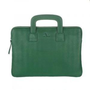 Green leather laptop Bag ASALi