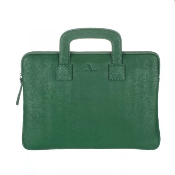 Green leather laptop Bag ASALi