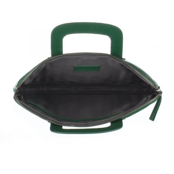 Interior of the green asali laptop bag
