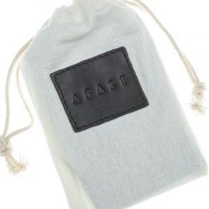 Dust bag with de-bossing of asali logo for cardholder