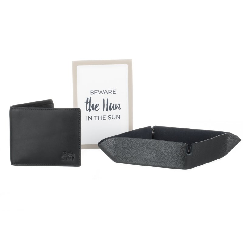 bbmf mens valet tray with bbmf waller and quote card