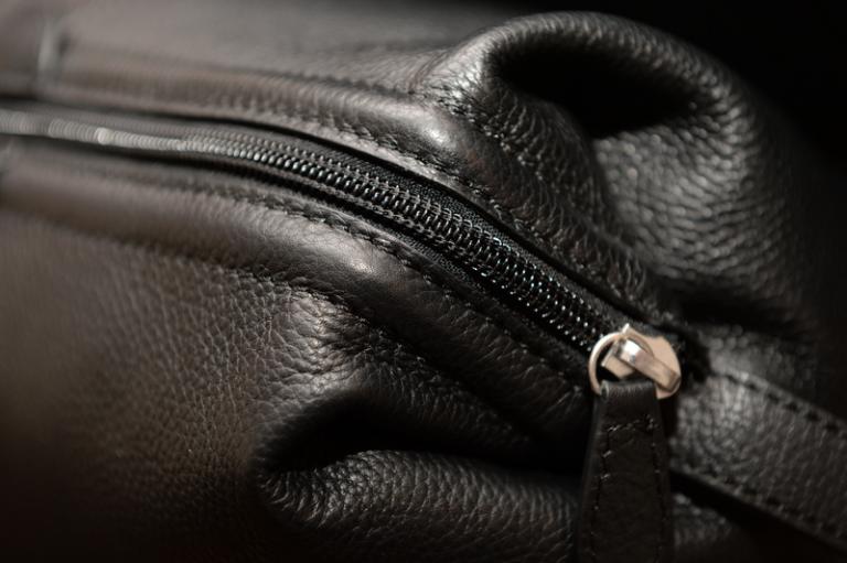 black wash bag and zip detail