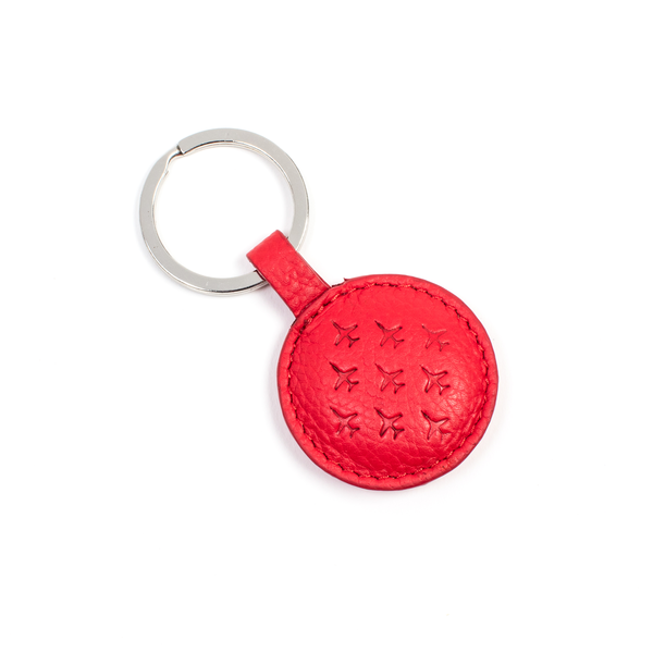 rd arrows key ring with diamond 9 logo