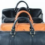 asali bags lined up with handles and logos